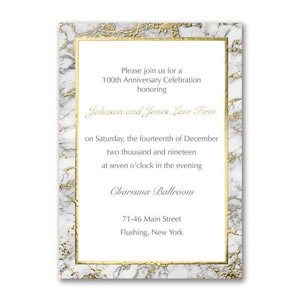 Marble design event invitations.
