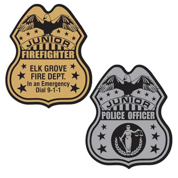 Junior police badge with
