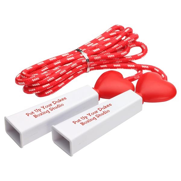 Heart fitness jump rope.