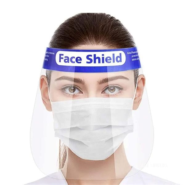 Clear face shield with