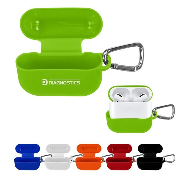 Silicone earbud case with