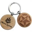 Promotional Wooden Key Tags-WDKY1