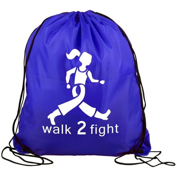 Drawstring back pack bag