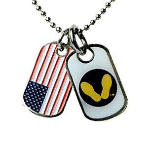 Mini dog tag, 0.8mm