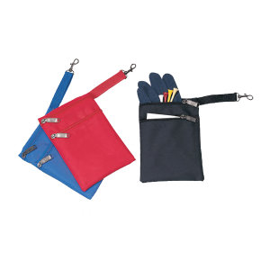 Two zipper golf pouch