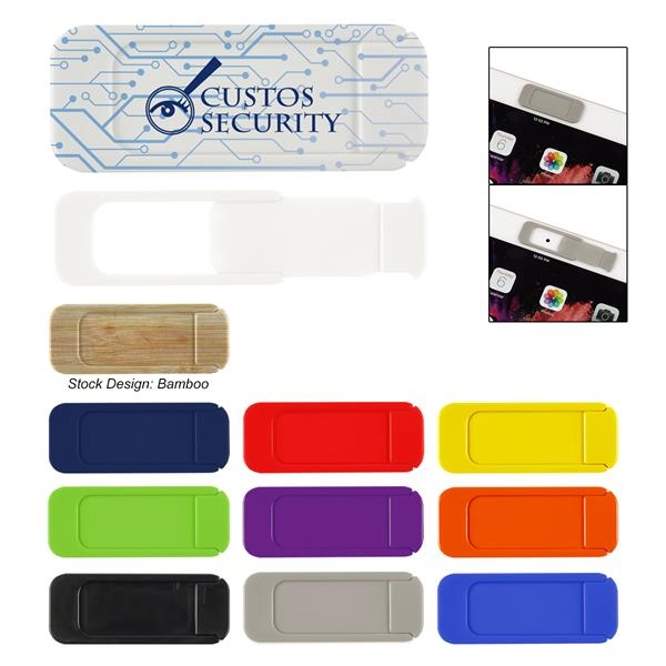 Security webcam cover for