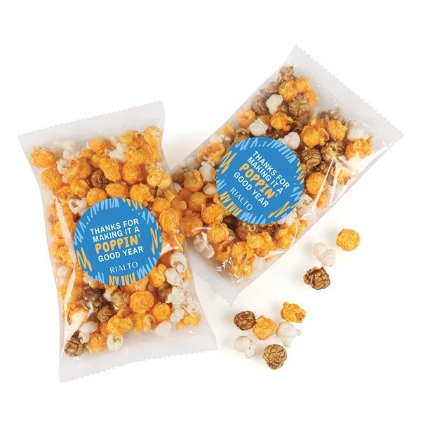 custom-labeled bag of caramel