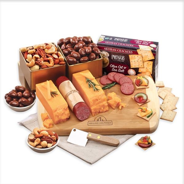 cutting board with cheese,