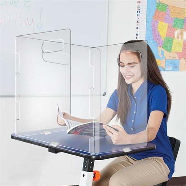 Lightweight 3-panel Desk Shield