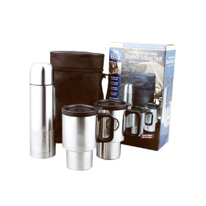 Travel mug set with