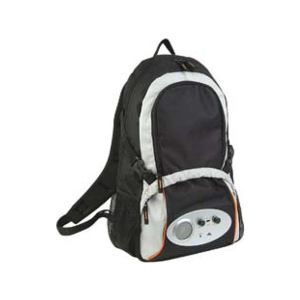 Polyester backpack with radio