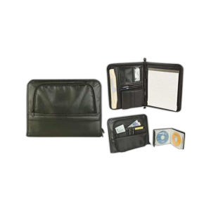 Promotional Zippered Portfolios-Padfolio-B356