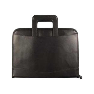 Leatherette executive organizer zippered