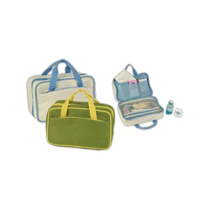 Polyester cosmetic tote bag