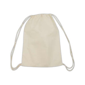 Cotton drawstring backpack with