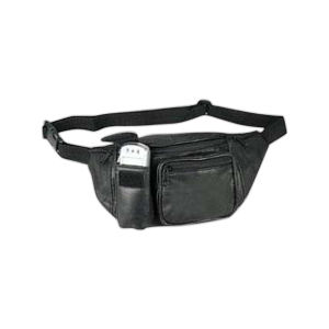 Leather fanny pack with