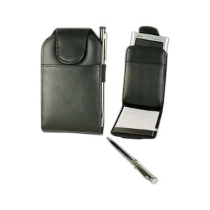 Leatherette communications jotter with
