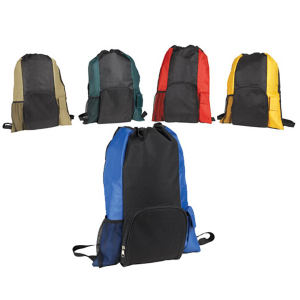 Promotional Drawstring Bags-180B-BACKPACK