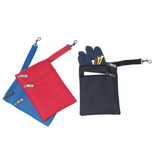 Two zipper golf pouch,
