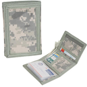 Tri-fold digital camo wallet