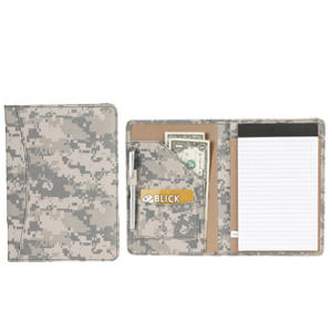 Digital camo padfolio with