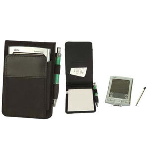 Leatherette journalist jotter with