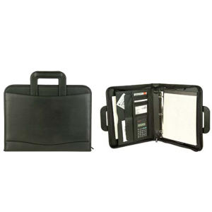 Leatherette executive zippered padfolio