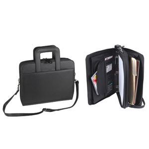 Leatherette ultimate zippered padfolio