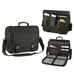 Laptop briefcase with expandable
