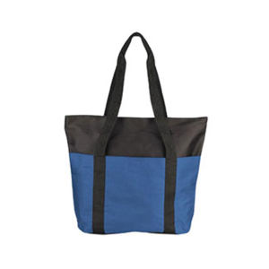 Zippered tote bag with