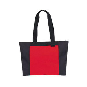 Zippered shopping tote bag,
