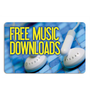 Promotional Music Download Cards-MUSIC-O-01