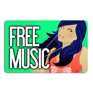 Promotional Music Download Cards-MUSIC-Q-01