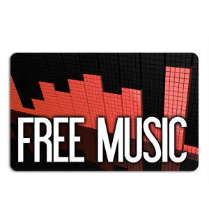 Promotional Music Download Cards-MUSIC-R-01