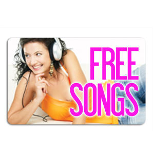 Promotional Music Download Cards-MUSIC-AA-01