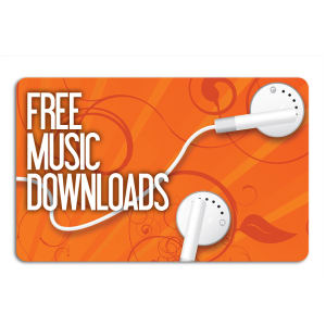 Promotional Music Download Cards-MUSIC-I-01