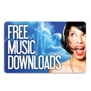 Promotional Music Download Cards-MUSIC-J-01