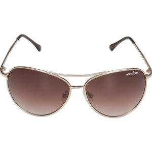 Gold aviator-style frame sunglasses