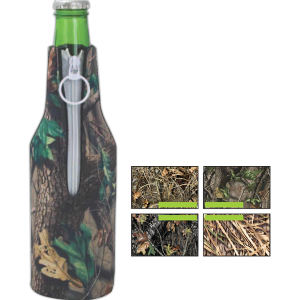 Trademark camouflage bottle insulator,