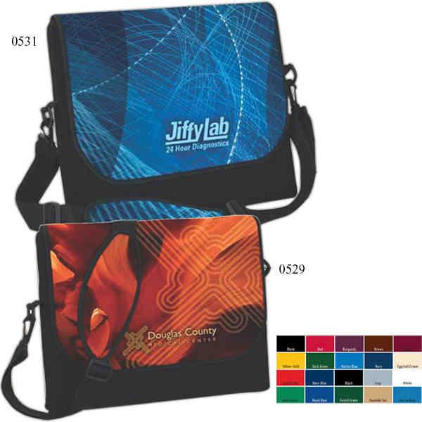 Messenger bag-style laptop sleeve