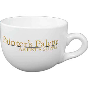 Latte cup, ceramic, white,