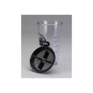 Plastic fitness shaker glass