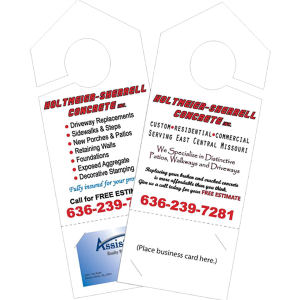 Laminated door hanger with