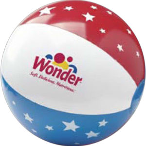 Imprinted Stars and Stripes Beach Ball