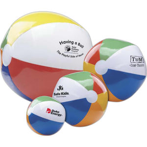 Multi-color beach ball.