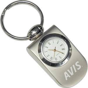 Analog clock key tag.