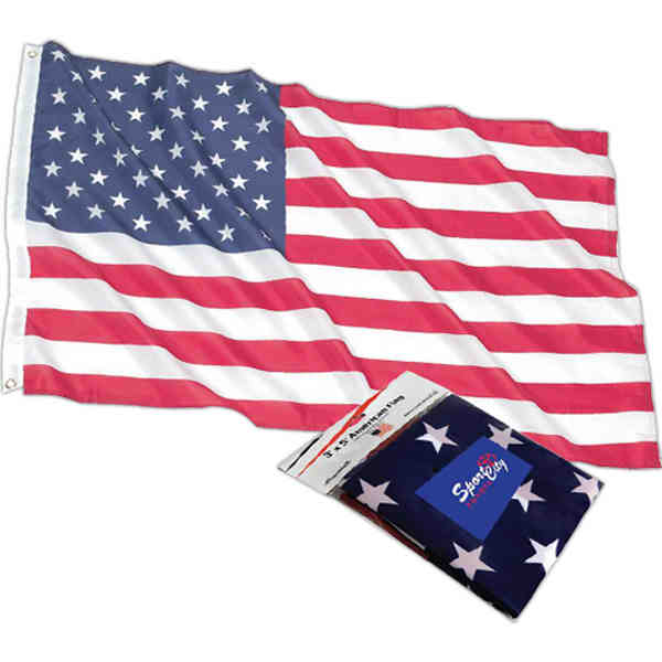 American flag made of