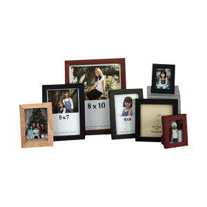 Wood picture frame with