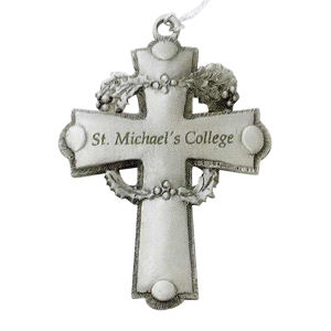 Pewter finish ornament, cross