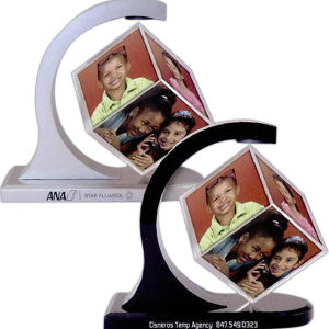 Magnetic photo cube spinner,